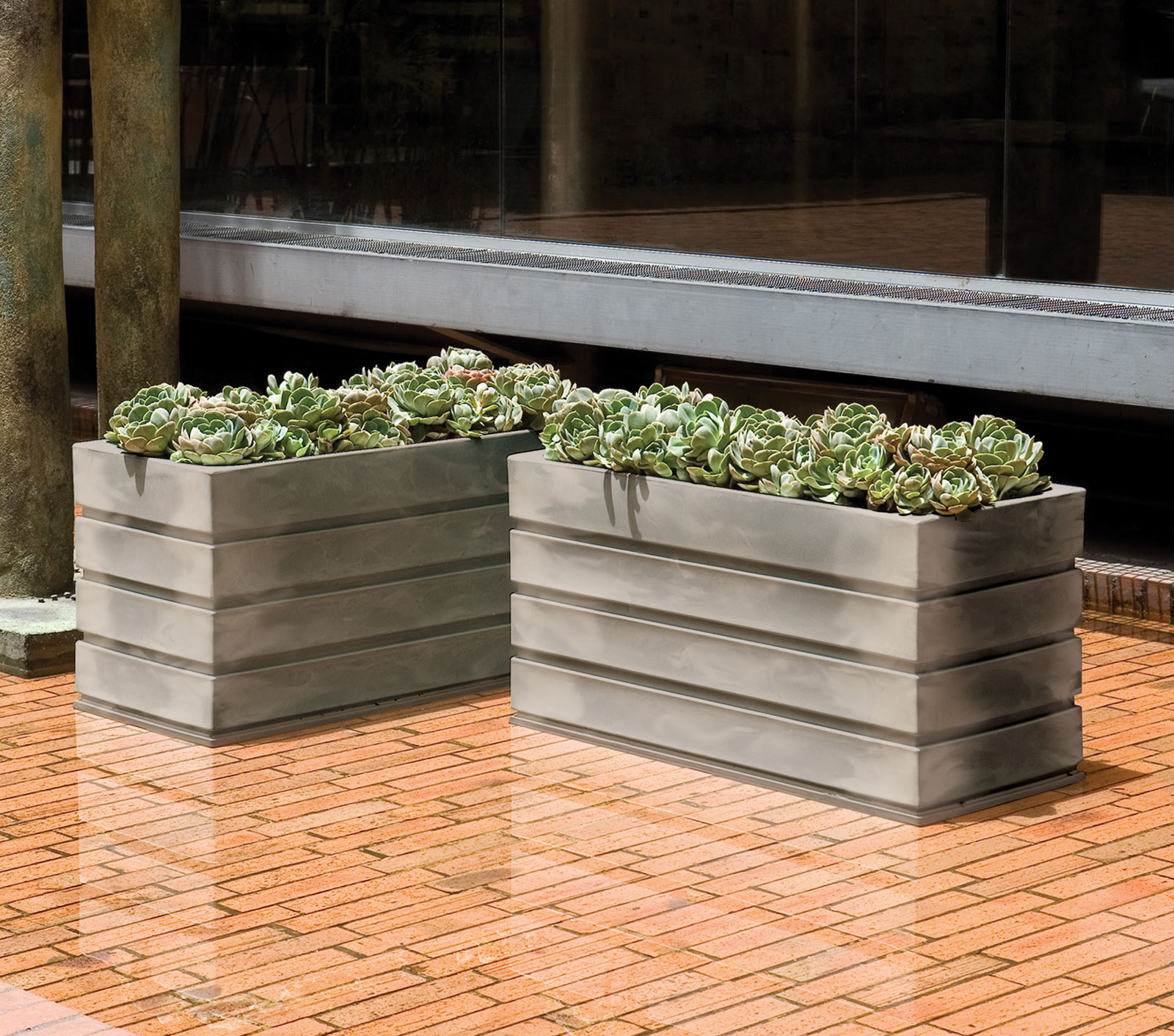 barriers functional serving marek tapered public these also to planters fiberglass decorative while touch large spaces operate commercial outdoor as a purpose site rectangular unlimited planter effective