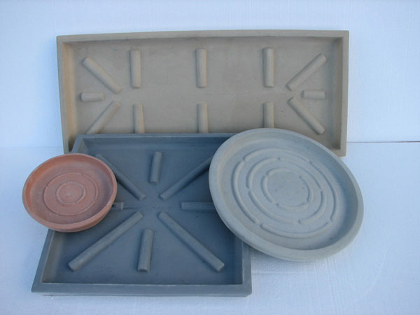 Round Square Rectangular Heavy Duty Saucers For Concrete Planters