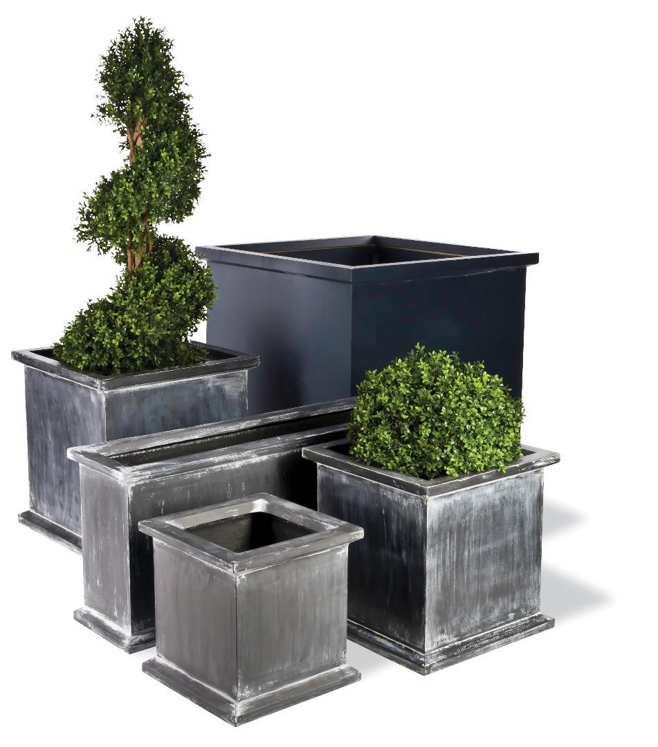 Grosvenor Square Trough Lightweight Fiberglass Planters Garden