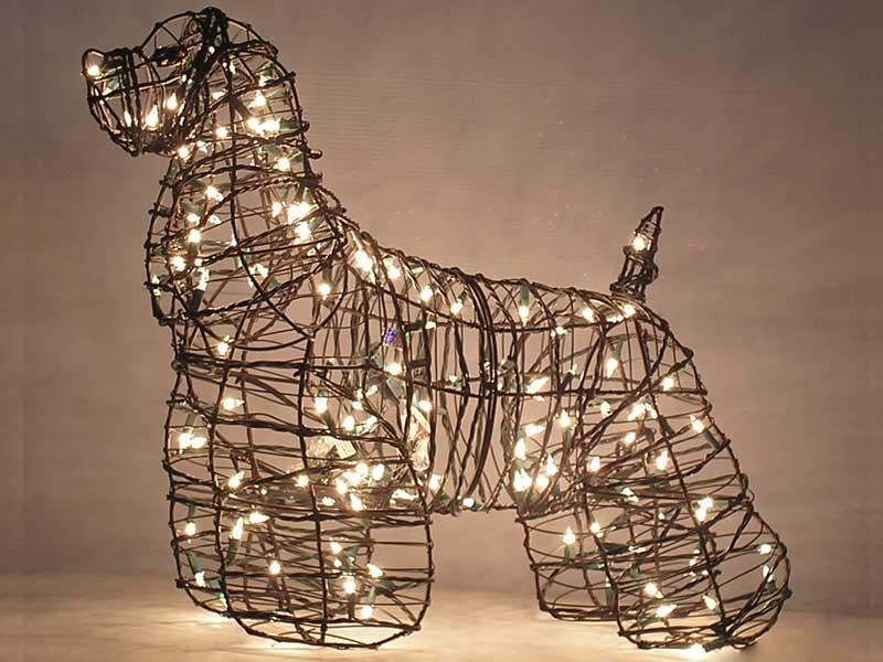Lighted Dog Topiary Frames Garden Artisans Llc