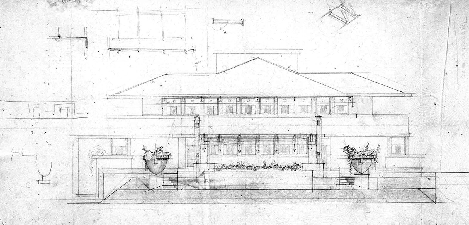 Frank lloyd wright westcott house vase garden artisans llc frank lloyd wright burton j westcott house drawing reviewsmspy