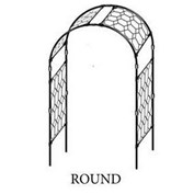 Round or York Style Garden Arch by Agriframes