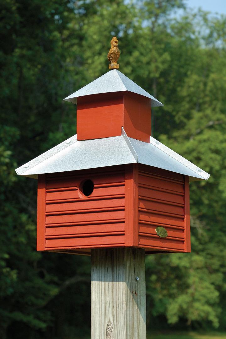 Rusty Rooster Birdhouse Garden Artisans Llc
