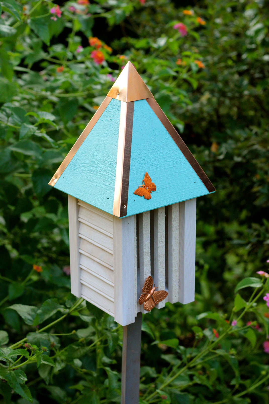 Flutterbye Butterfly House With A Solid Copper Roof