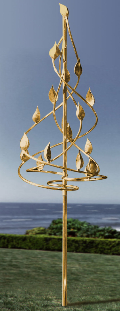 Helix Wind Sculpture Garden Artisans Llc