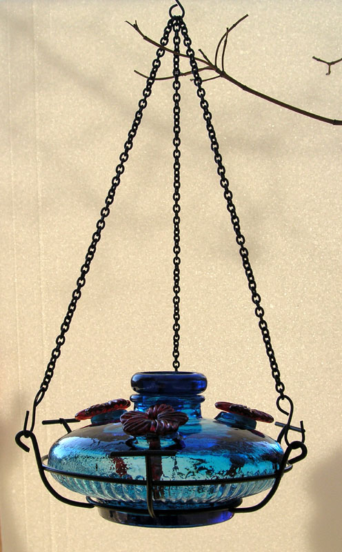 Glass Hummingbird Feeder With Perches Bloom Perch