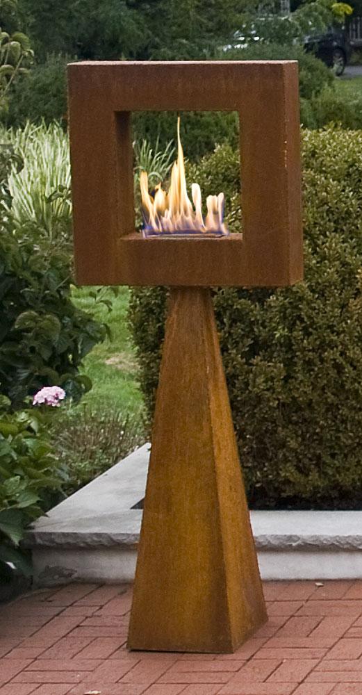 Framing The Flame Standing Sculpture Garden Artisans Llc