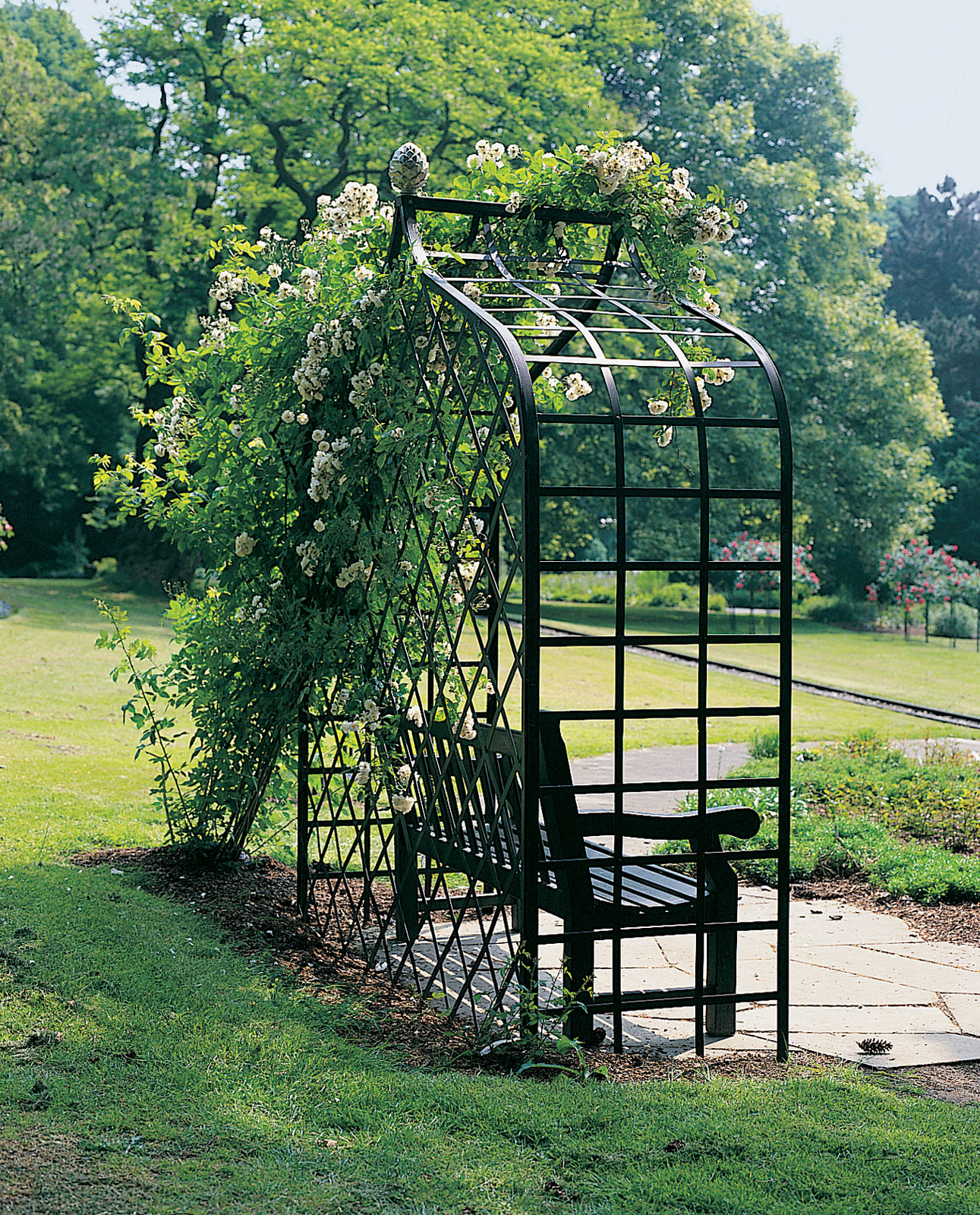 Victorian Enclosed Garden Arbor   Classic Garden Elements