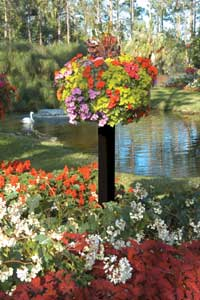 Border Column Kit With Wooden Post Garden Artisans Llc