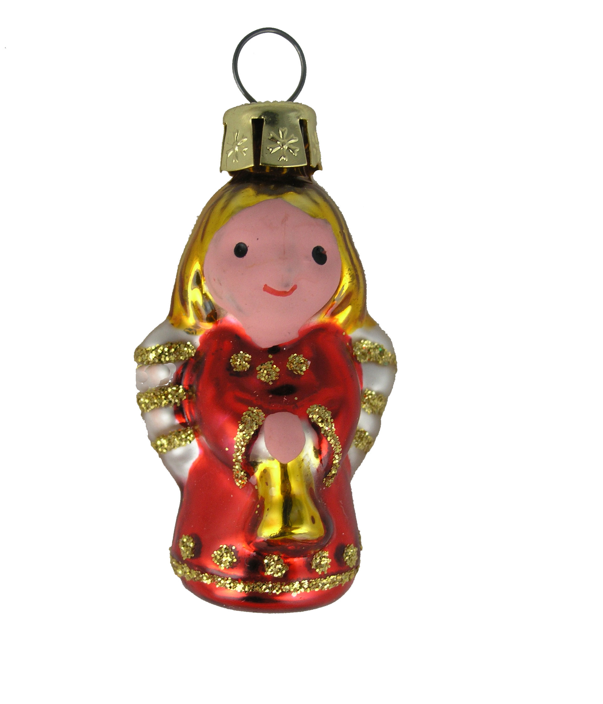 Mini Red Angel Blown Glass Ornament Garden Artisans Llc