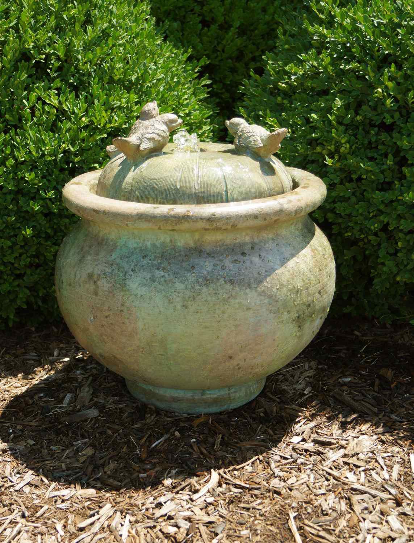 Birds Patio Bubbler Fountain Garden Artisans Llc