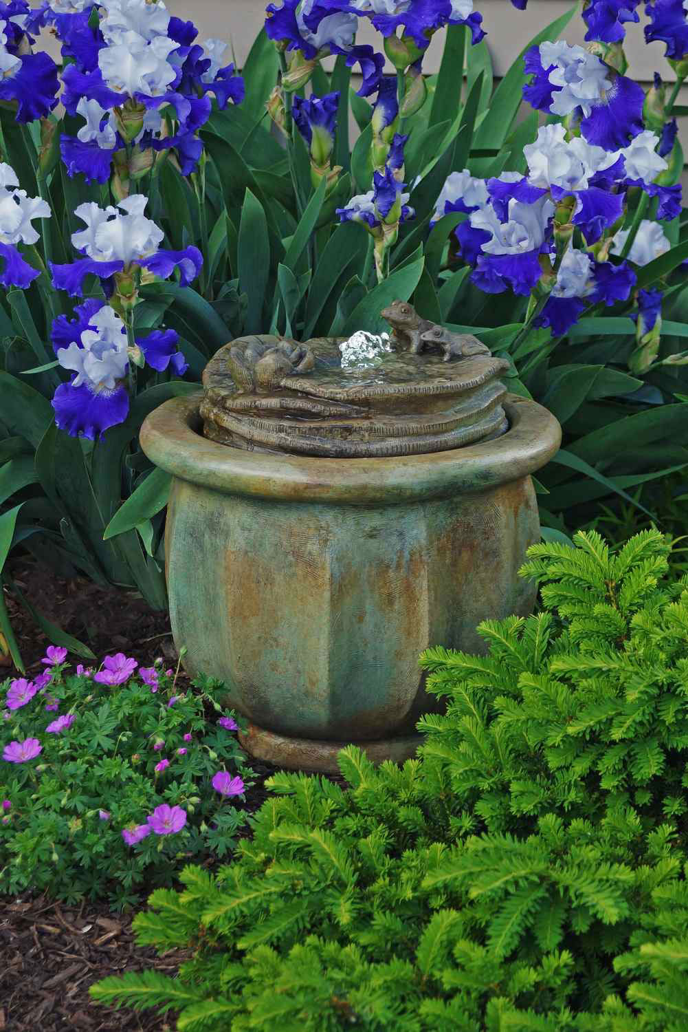 Frogs Patio Bubbler Fountain Garden Artisans Llc