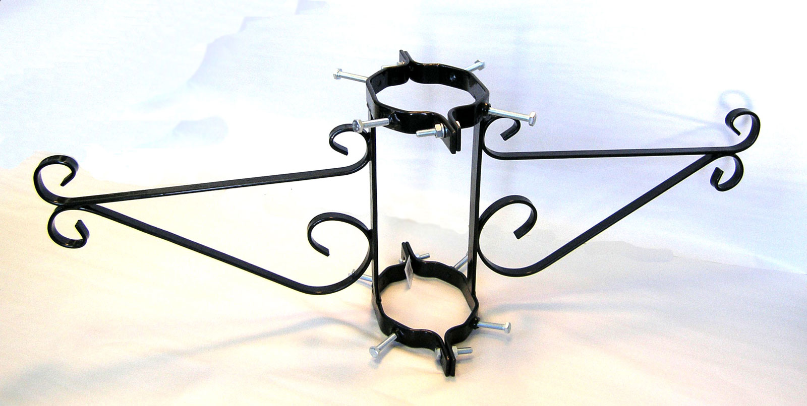 Double Lamppost Bracket For Hanging Baskets 2 Pk Pvc Coated Wiring A Lamp Post Scroll
