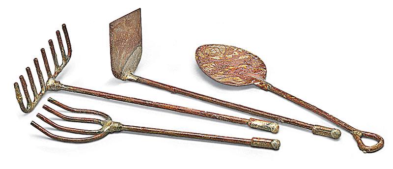 Miniature garden tools set of 4 garden artisans llc for Miniature garden tools