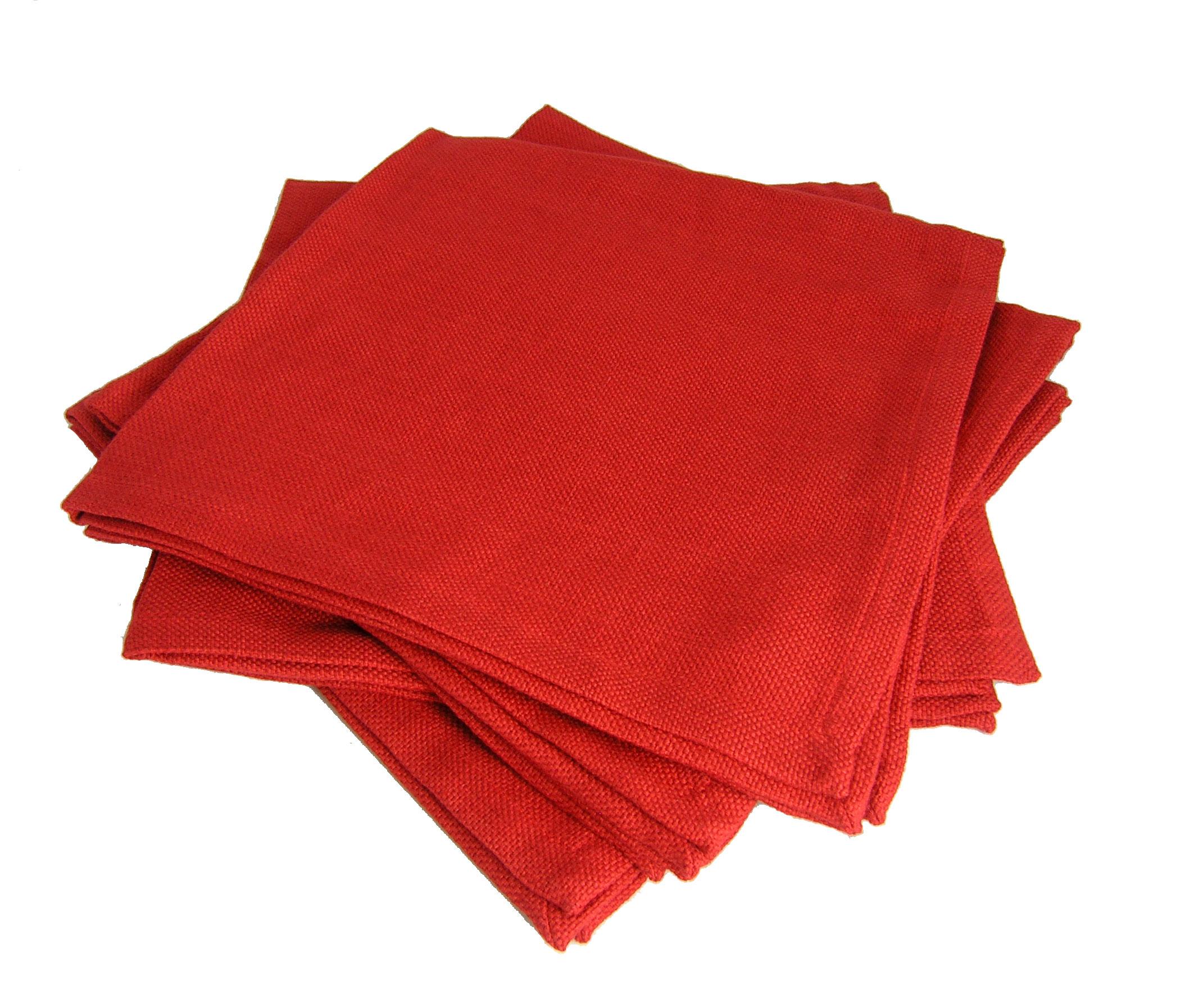 Classic Red Napkins Set Of 4 Garden Artisans Llc