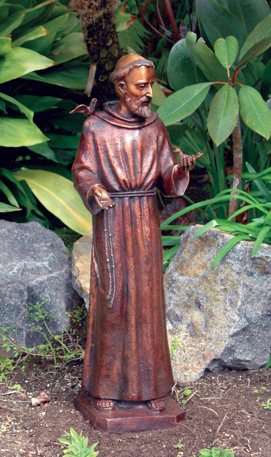 St Francis Bronze Statue Garden Artisans Llc