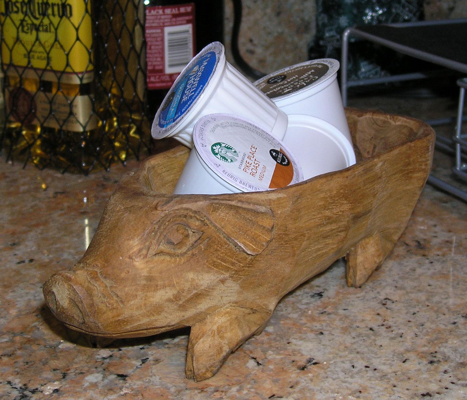 Wooden Pig Bowl Garden Artisans Llc
