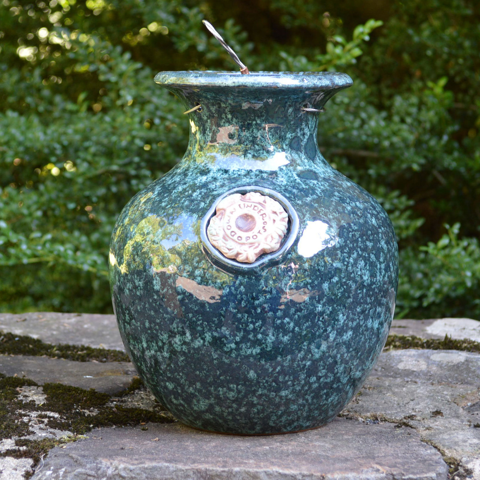 down under pot green marble