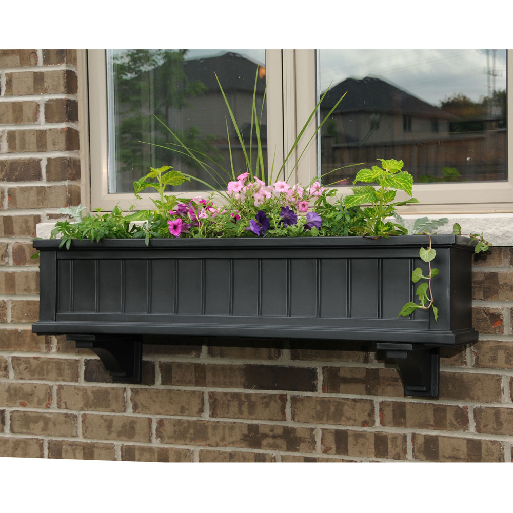 cape cod collection of self watering window box planters. Black Bedroom Furniture Sets. Home Design Ideas