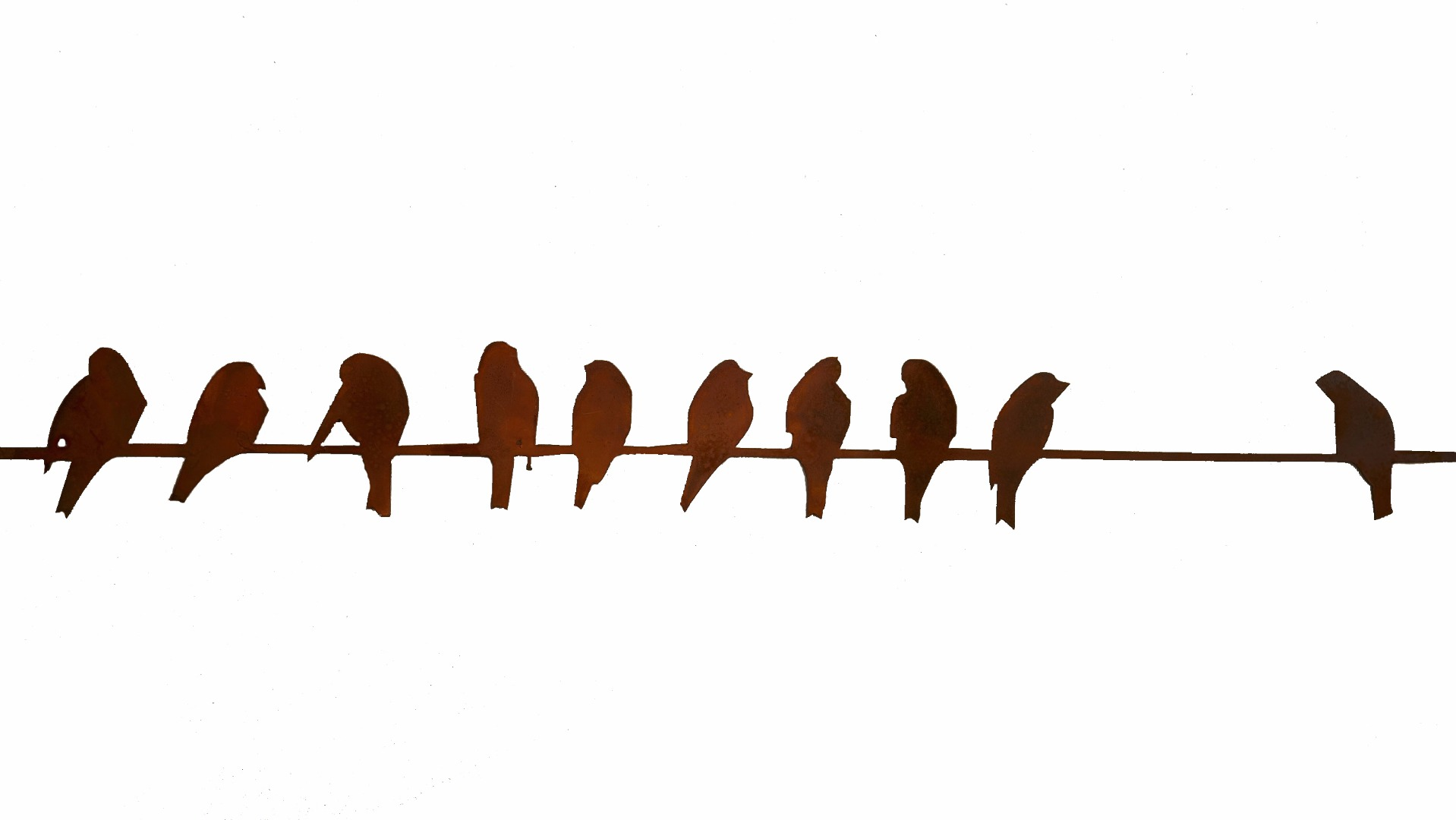 Birds On A Wire 44 Quot Long Garden Artisans Llc