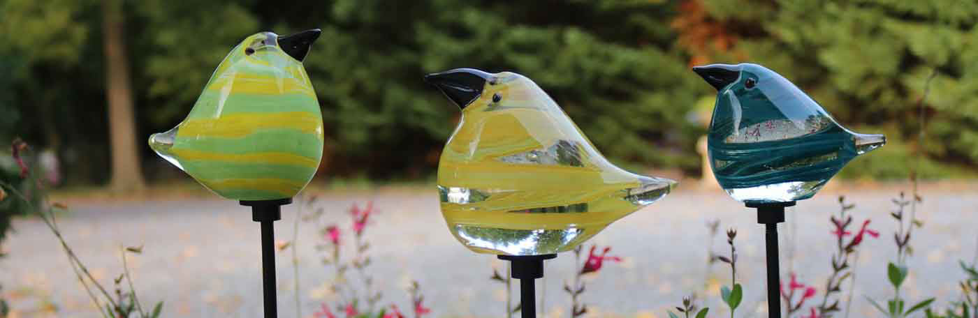 Glass Garden Decor