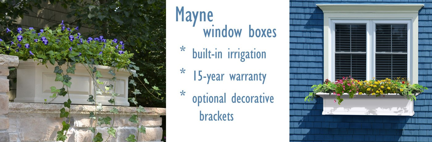 Mayne Window Box Planters - 15 year warranty