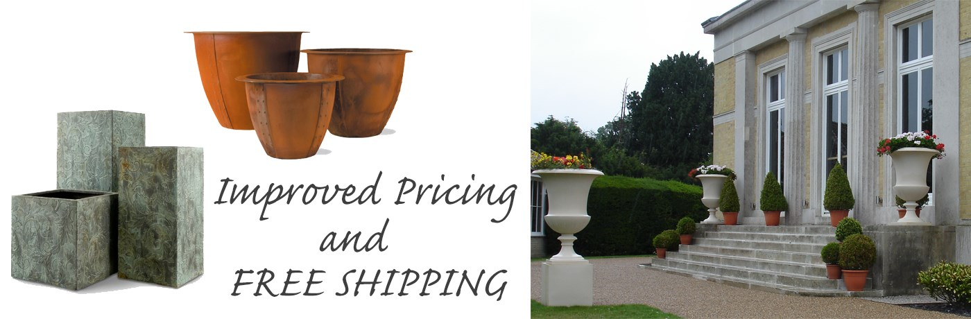 Free Shipping on most Fiberglass Planters