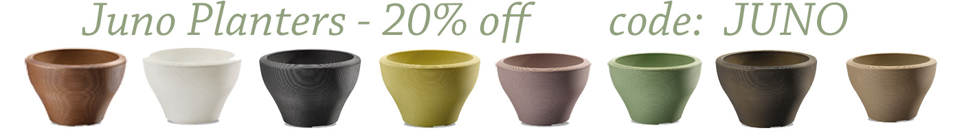 Save 20% on Juno planters thru August 25th!