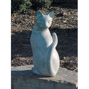 Hi Tail Cat statue - White