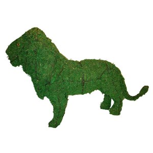 Mossed Lion Topiary Frame