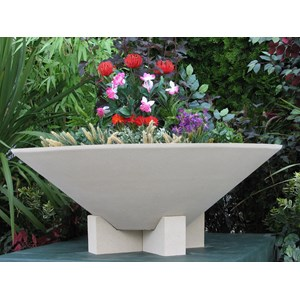 Essex - cast stone bowl planter with feet