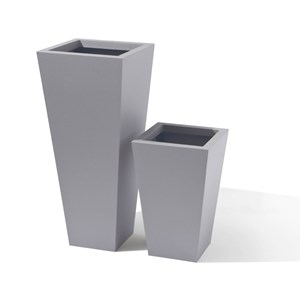 Square Tapered metal planter