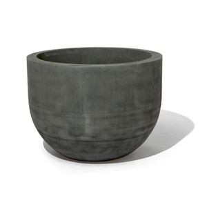 Capsule metal planter in Oxidized Zinc finish