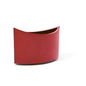 Ellipse - oval metal planter - Red