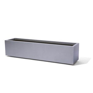 Low Rectangle - metal rectangular planter