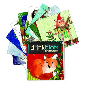Drink Blots - Christmas Paper Art Coasters