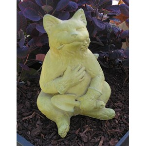 Gardening Cat statue - Weathered Bronze