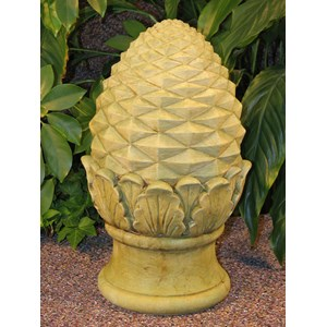 Large Pineapple Finial in Weathered Bronze