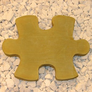 Puzzle Piece A stepping stone - Weathered Bronze