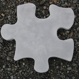 Puzzle Piece B stepping stone in Antique Grey
