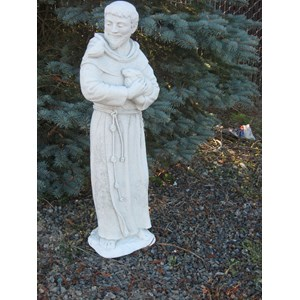 St Francis statue in Antique Grey Stone