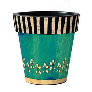 "Make Her Daisy 12"" Art Pot"
