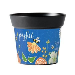 "Be Joyful 6"" Metal Pot"