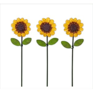 Mini Sunflower Picks - Set of Three