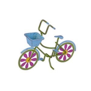 Colorful Miniature Bicycle with Basket