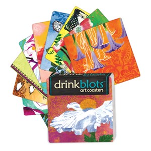 Drink Blots - Flower Silhouette  Paper Art Coasters
