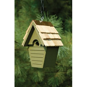 Wren in the Wind Birdhouse - Pinion Green