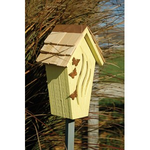 Bijou Butterfly House - Yellow with Shingled Roof