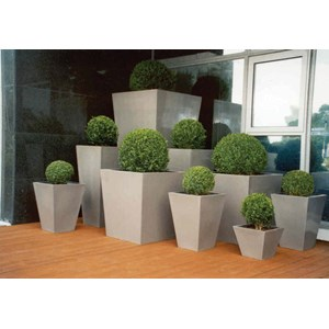 Geo Tapered Square fiberglass planters - many sizes
