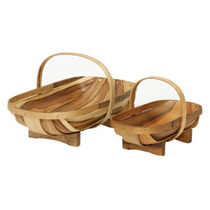 Set of Wooden Trugs